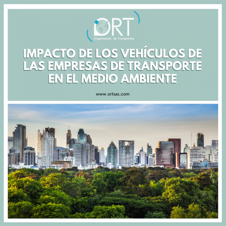 Impacto de los vehículos de las empresas de transporte en el medio ambiente