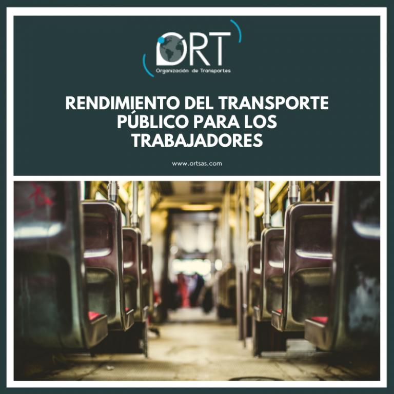 Rendimiento del transporte público para los trabajadores